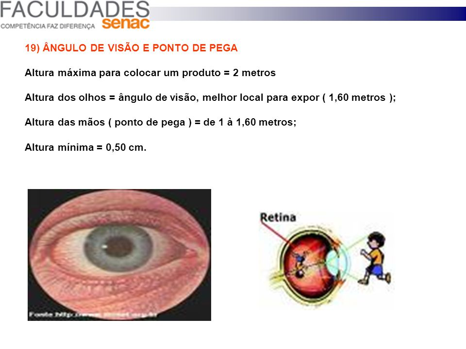 19) ÂNGULO DE VISÃO E PONTO DE PEGA