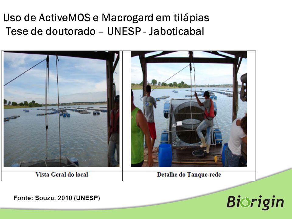 Uso de ActiveMOS e Macrogard em tilápias Tese de doutorado – UNESP - Jaboticabal