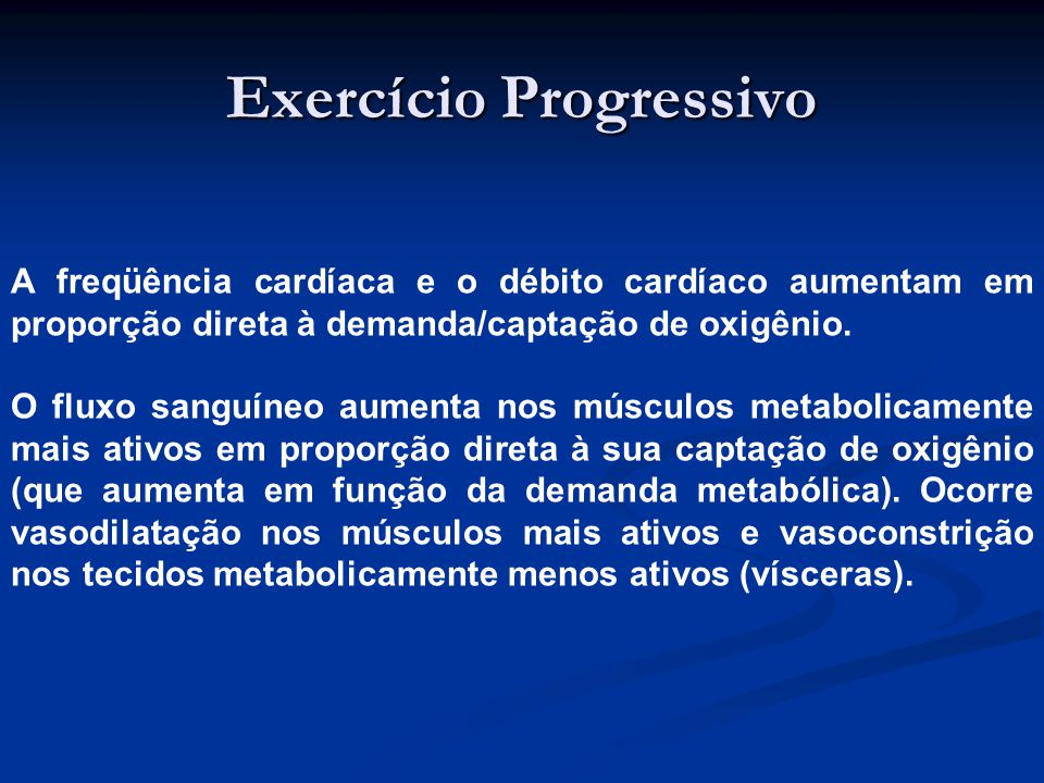 Exercício Progressivo
