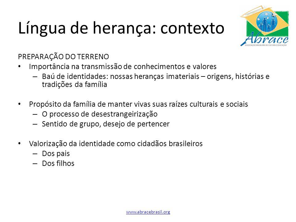 Língua de herança: contexto