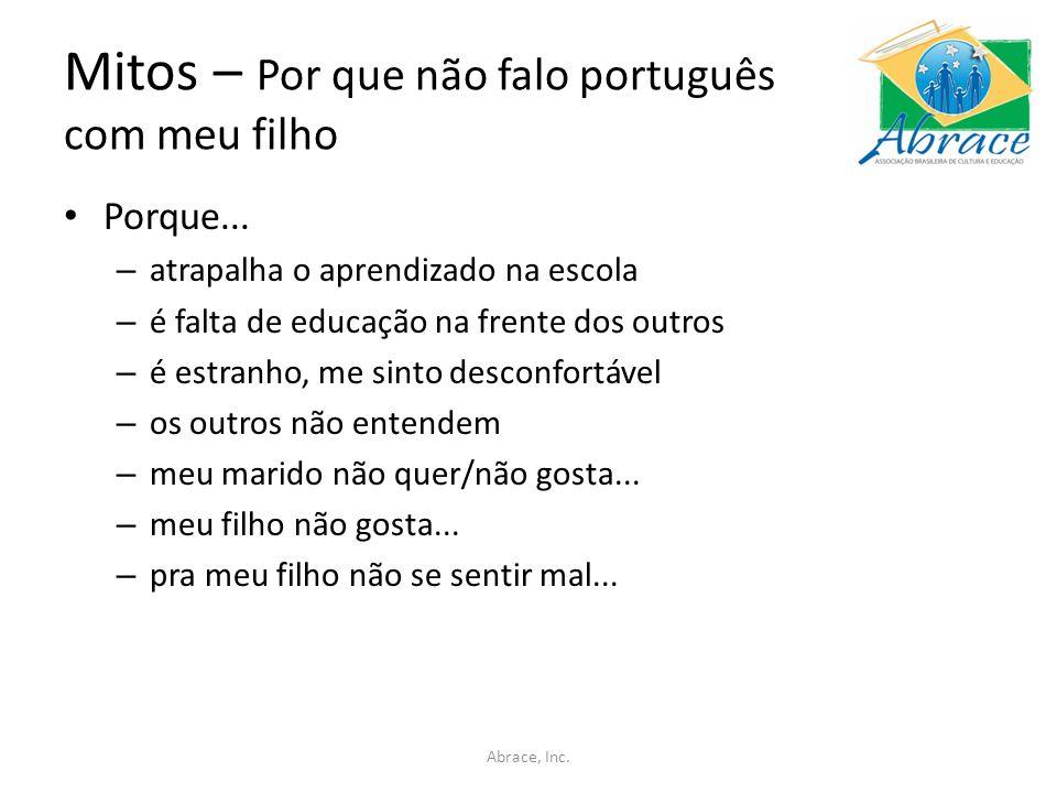 Mitos – Por que não falo português com meu filho