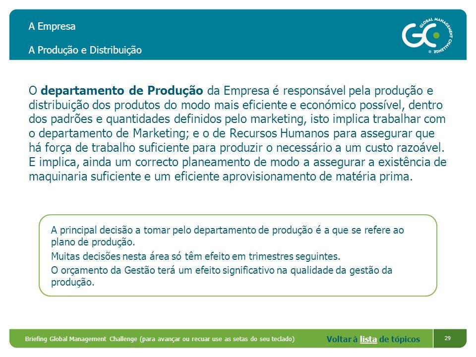 A Empresa A Produção e Distribuição