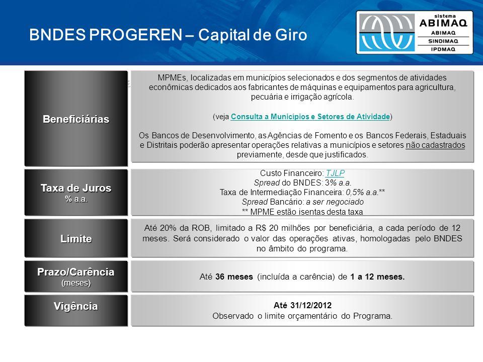 BNDES PROGEREN – Capital de Giro