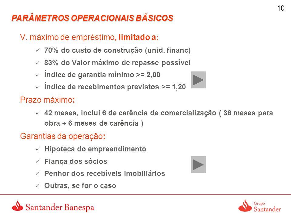 PARÂMETROS OPERACIONAIS BÁSICOS