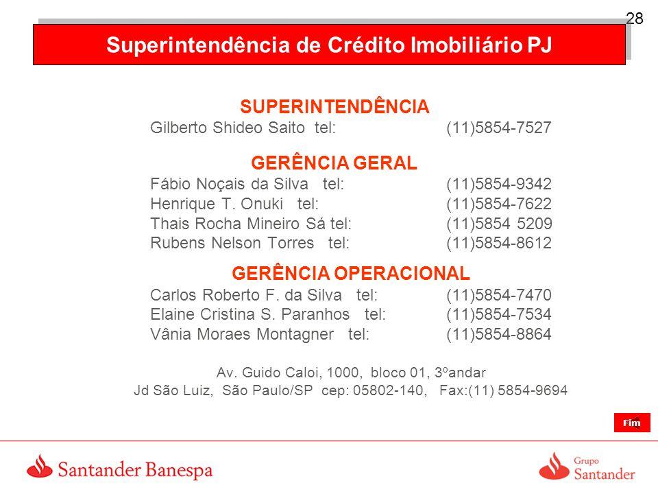 Superintendência de Crédito Imobiliário PJ