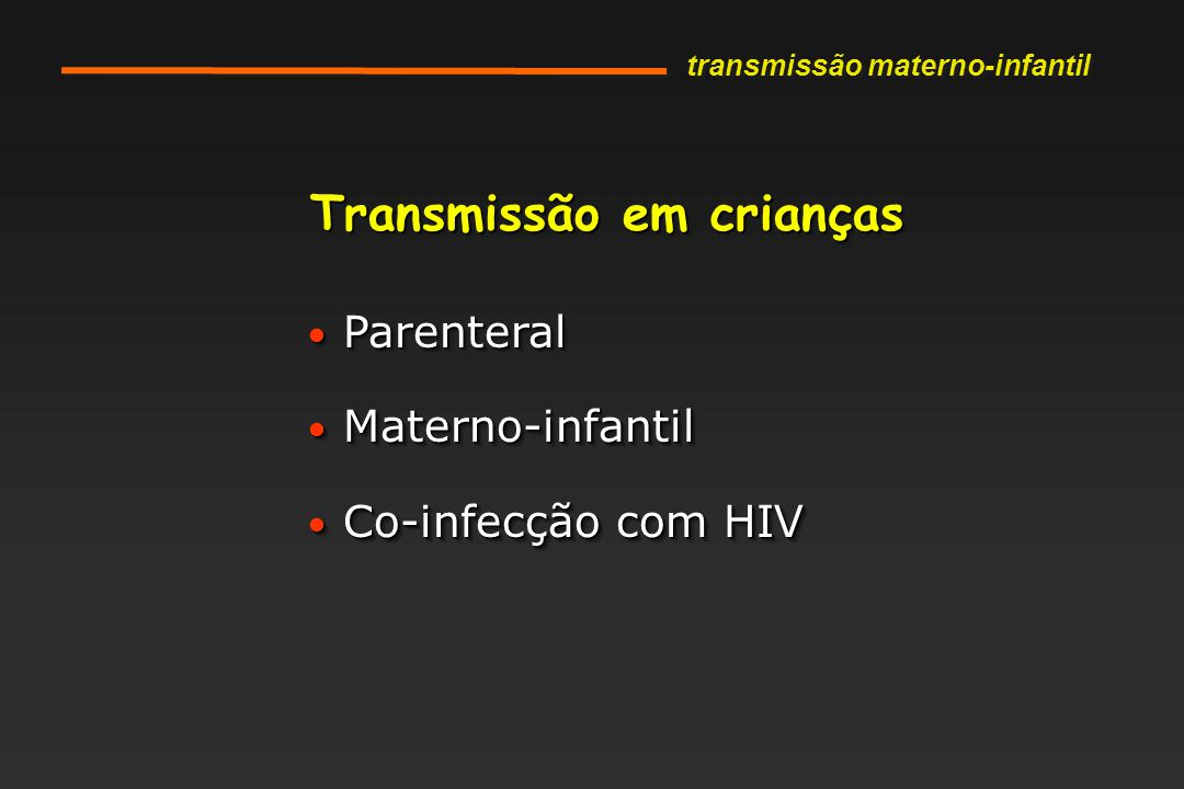 Transmissão em crianças