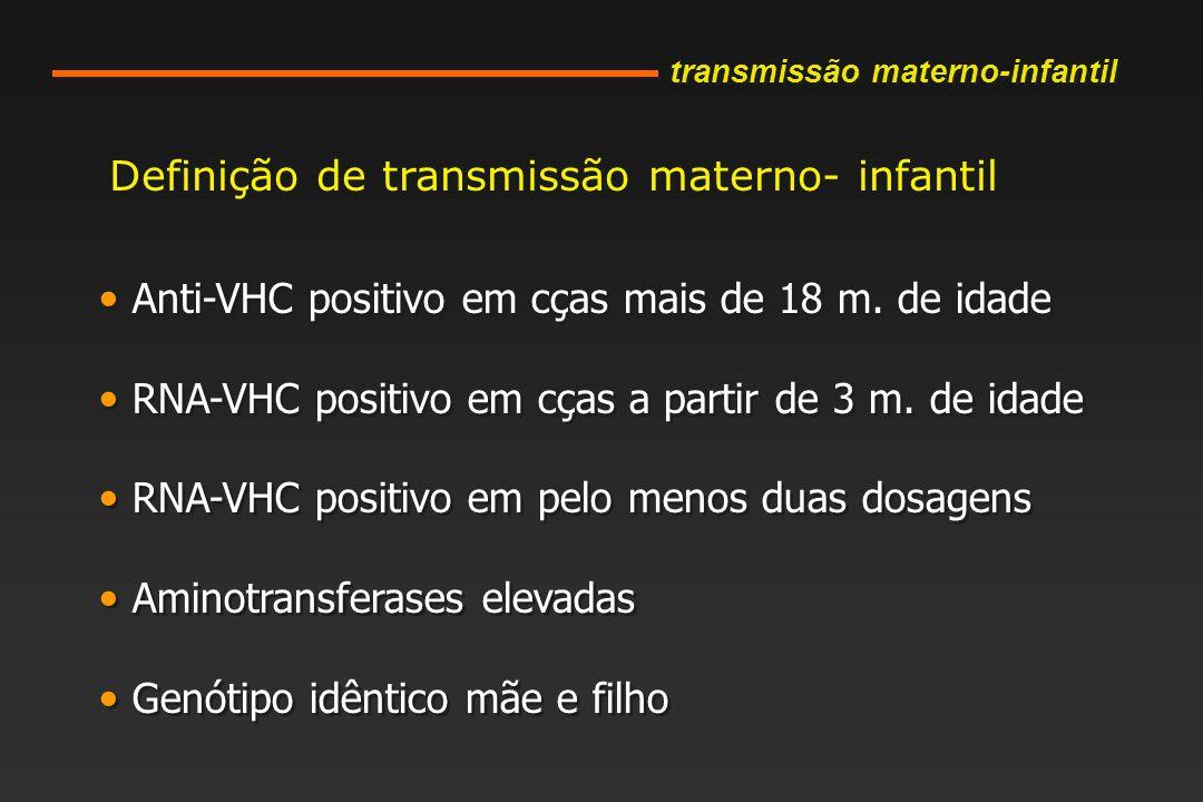 Definição de transmissão materno- infantil