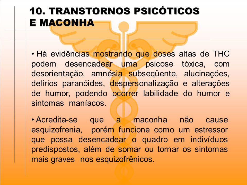 10. TRANSTORNOS PSICÓTICOS E MACONHA