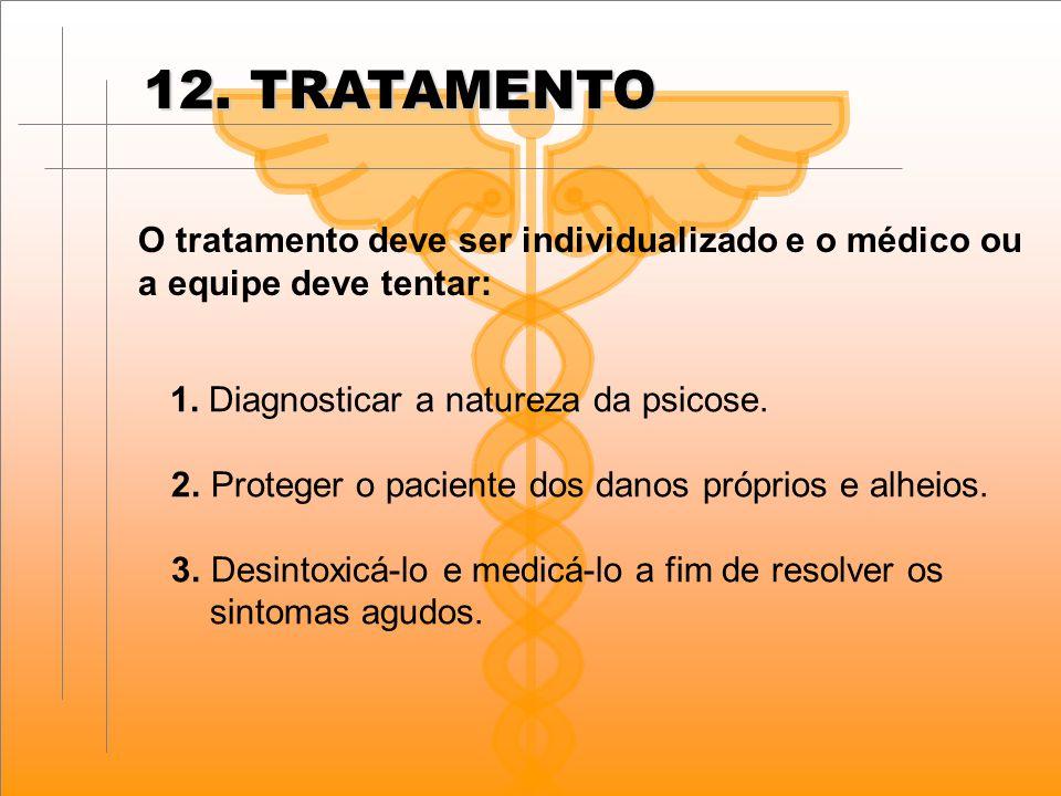 12. TRATAMENTO O tratamento deve ser individualizado e o médico ou