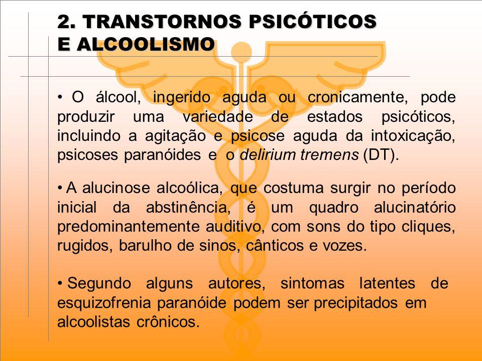 2. TRANSTORNOS PSICÓTICOS E ALCOOLISMO
