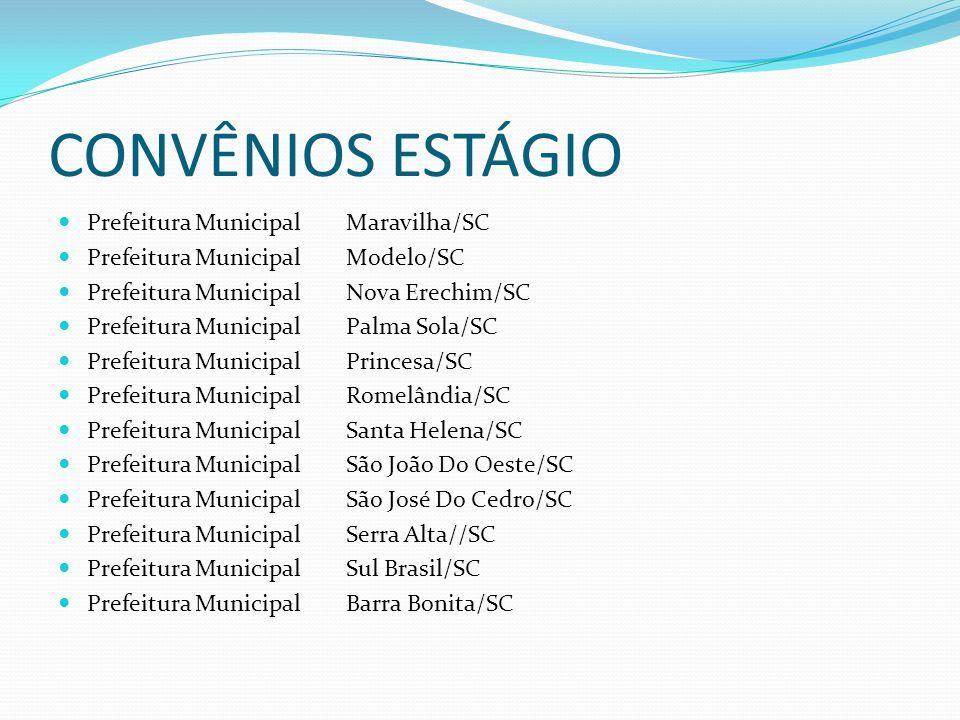 CONVÊNIOS ESTÁGIO Prefeitura Municipal Maravilha/SC