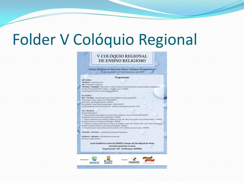 Folder V Colóquio Regional