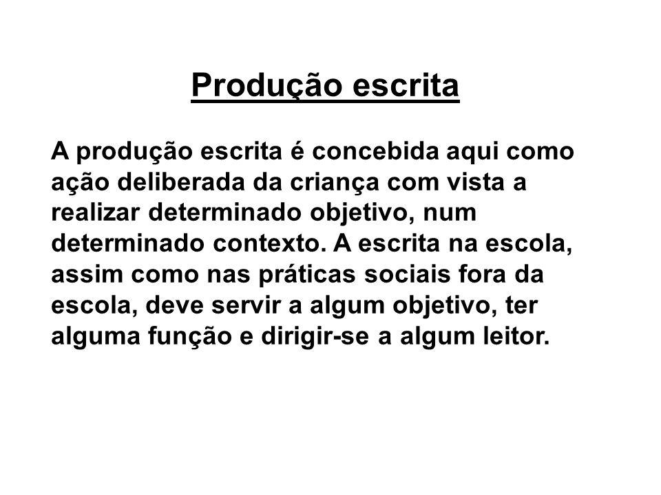 Produção escrita
