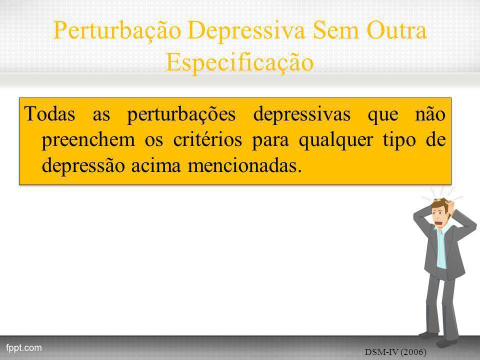Perturbação Depressiva Sem Outra Especificação