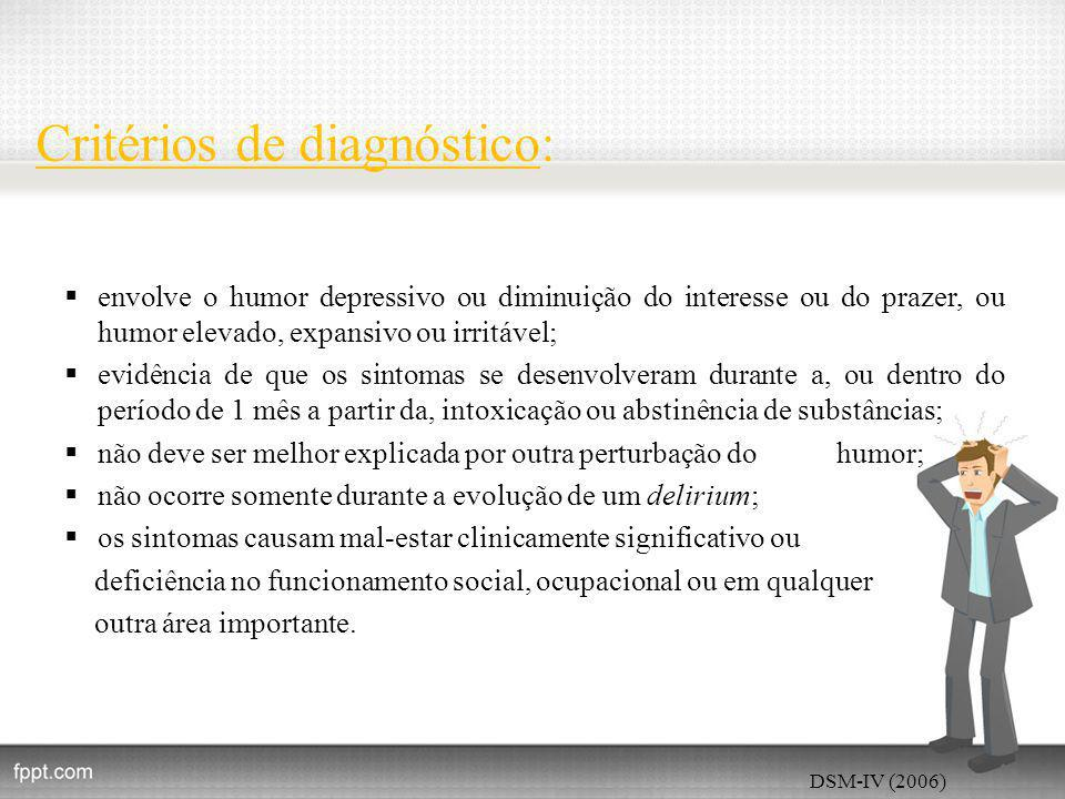 Critérios de diagnóstico: