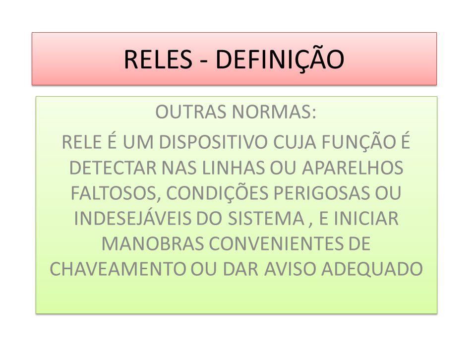 RELES - DEFINIÇÃO OUTRAS NORMAS: