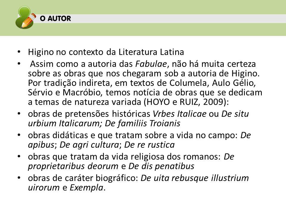 Higino no contexto da Literatura Latina