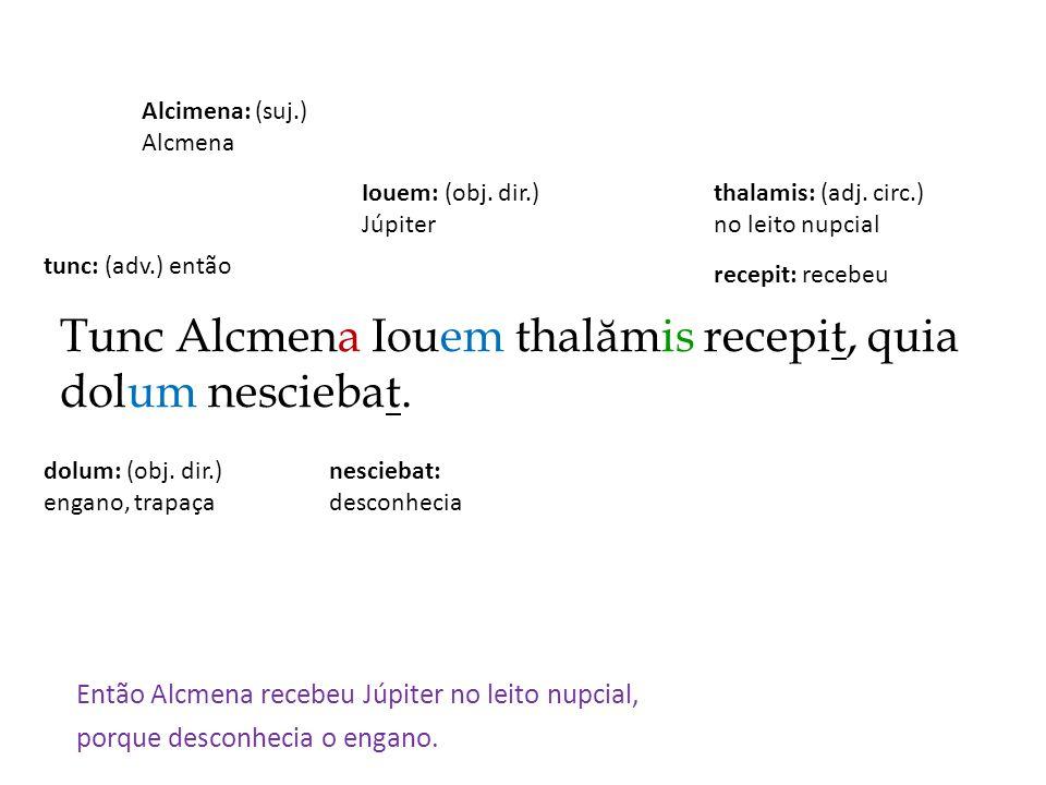Tunc Alcmena Iouem thalămis recepit, quia dolum nesciebat.