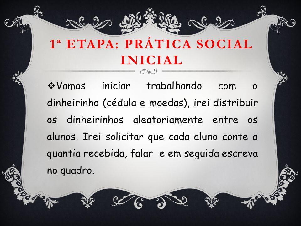 1ª Etapa: Prática social inicial