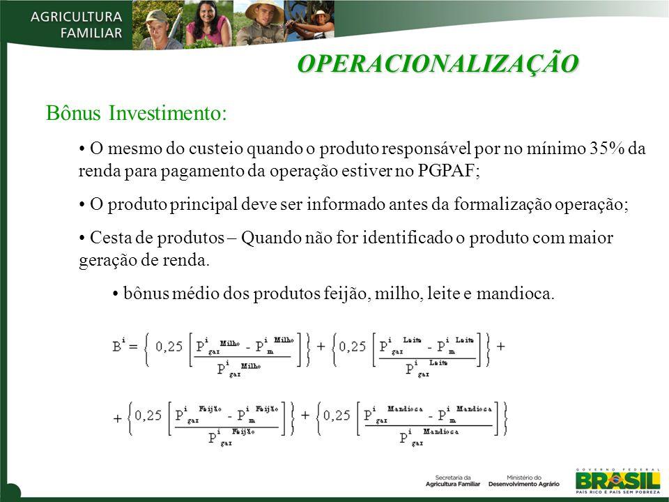 OPERACIONALIZAÇÃO Bônus Investimento: