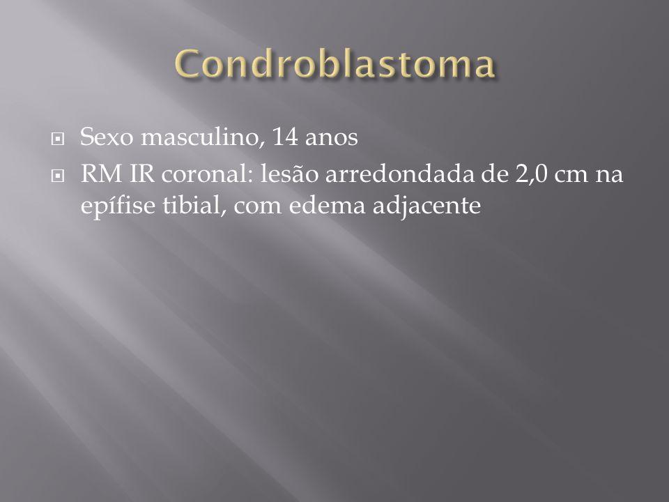 Condroblastoma Sexo masculino, 14 anos