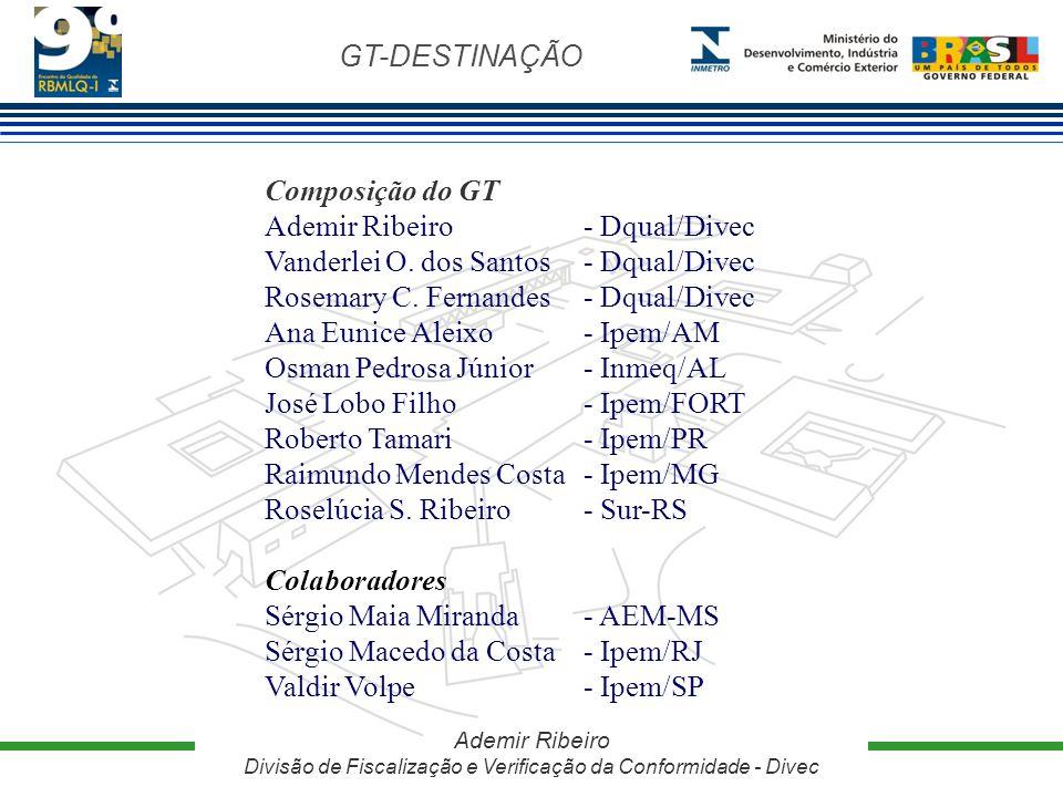Ademir Ribeiro - Dqual/Divec Vanderlei O. dos Santos - Dqual/Divec