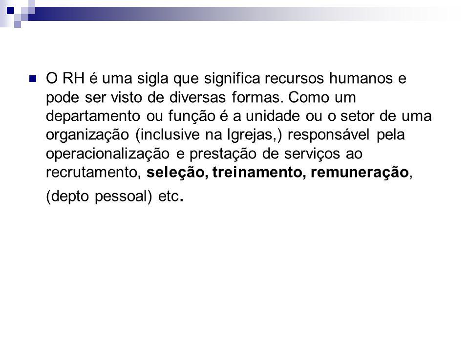 O RH é uma sigla que significa recursos humanos e pode ser visto de diversas formas.