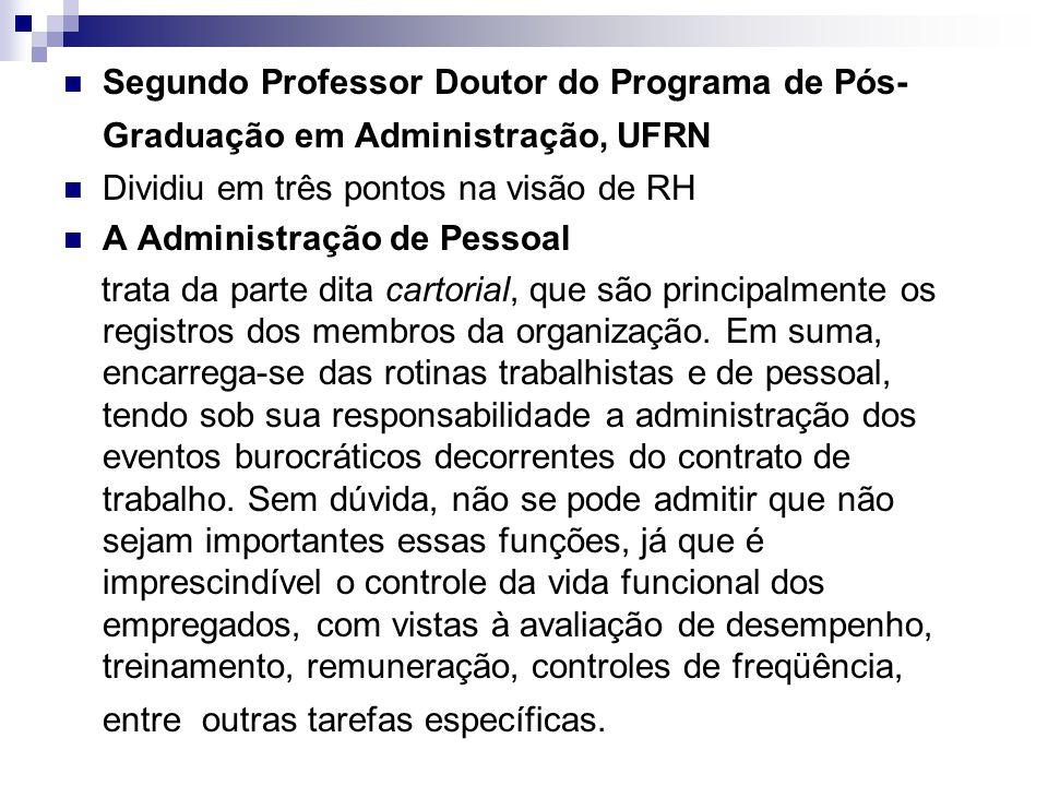 Segundo Professor Doutor do Programa de Pós-Graduação em Administração, UFRN