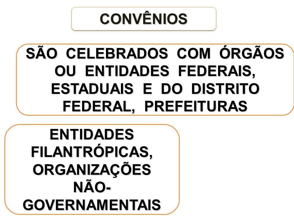 ENTIDADES FILANTRÓPICAS, ORGANIZAÇÕES NÃO-GOVERNAMENTAIS