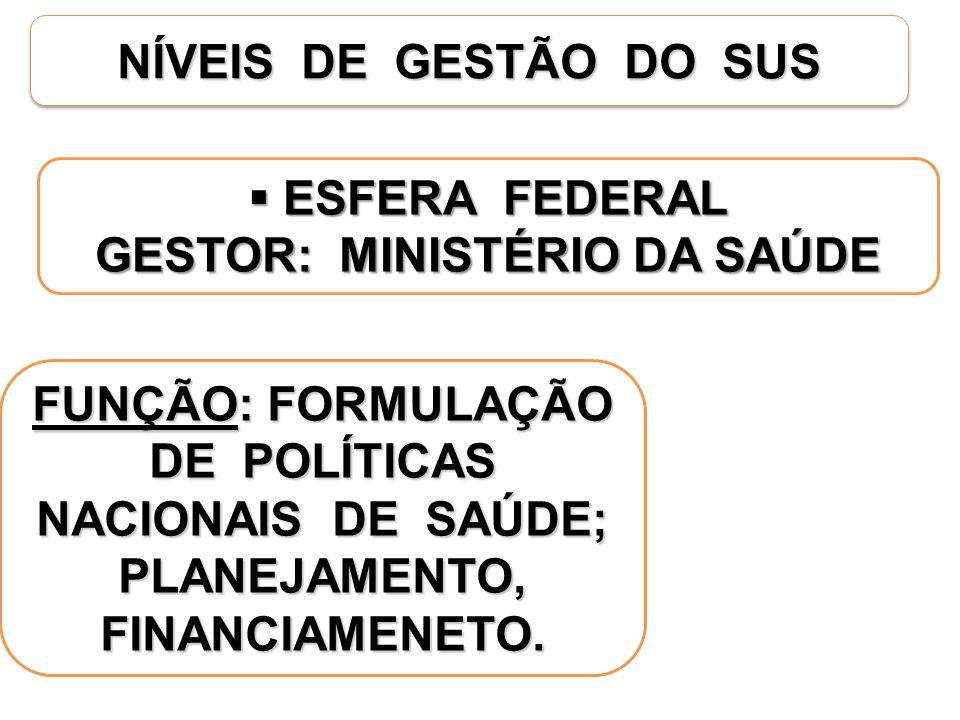GESTOR: MINISTÉRIO DA SAÚDE