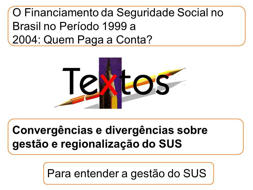 O Financiamento da Seguridade Social no Brasil no Período 1999 a