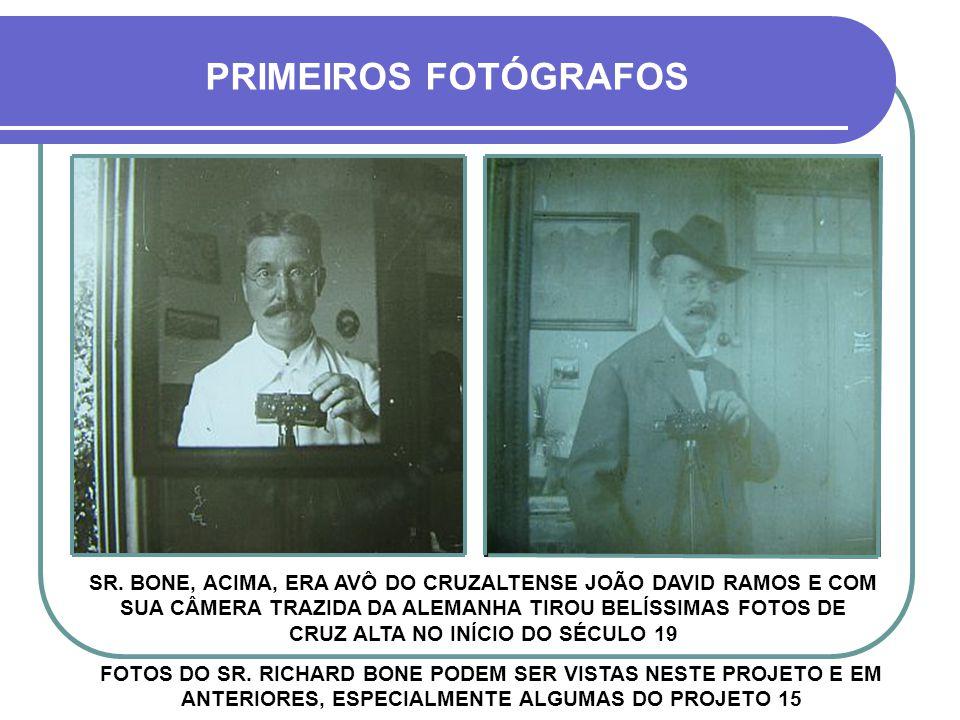 PRIMEIROS FOTÓGRAFOS