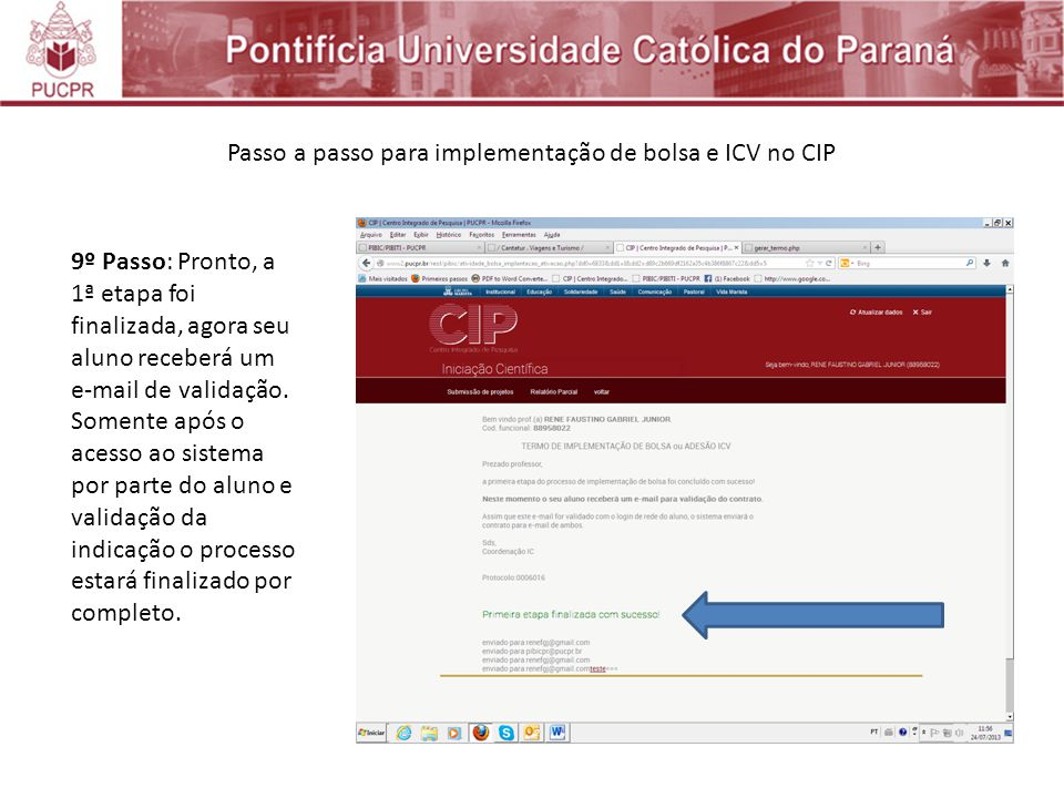 Passo a passo para implementação de bolsa e ICV no CIP