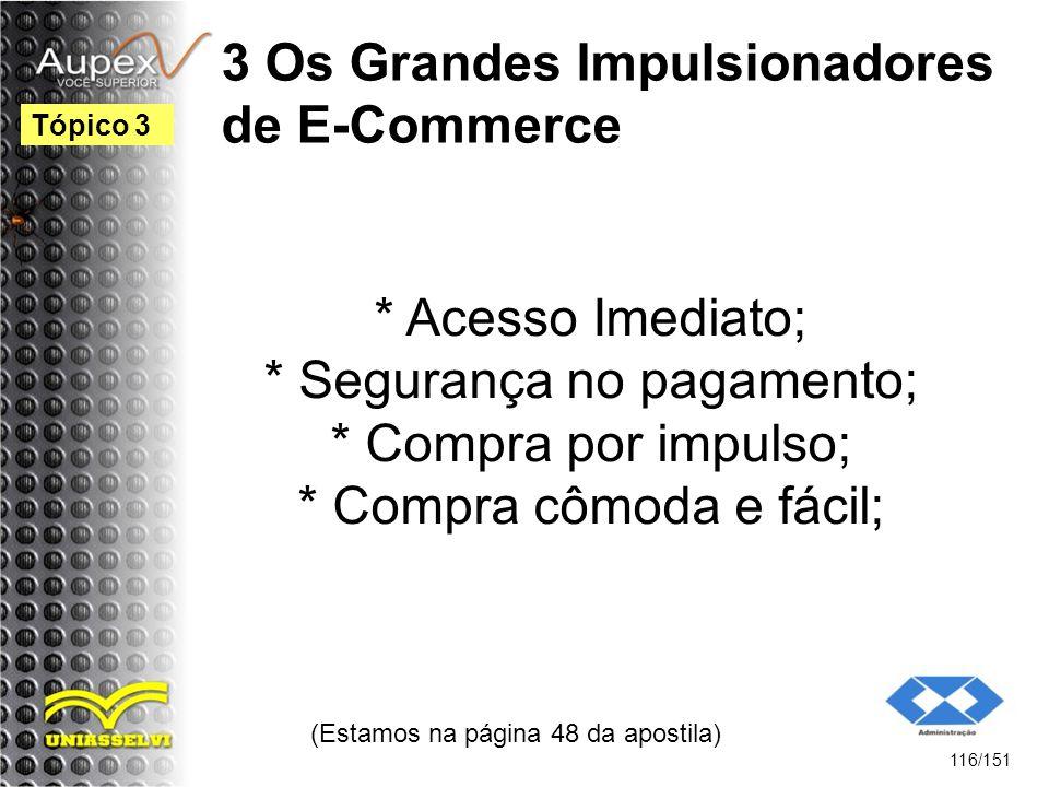 3 Os Grandes Impulsionadores de E-Commerce