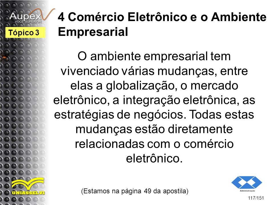 4 Comércio Eletrônico e o Ambiente Empresarial
