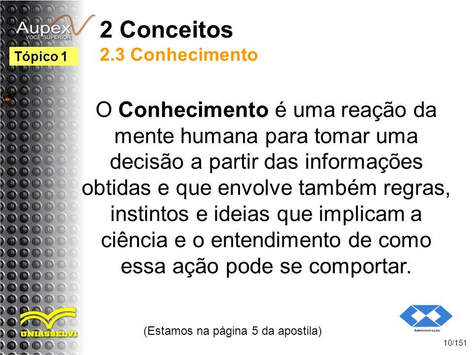 2 Conceitos 2.3 Conhecimento