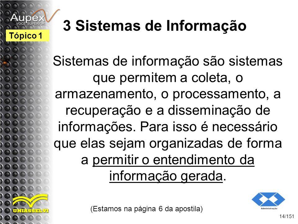 3 Sistemas de Informação