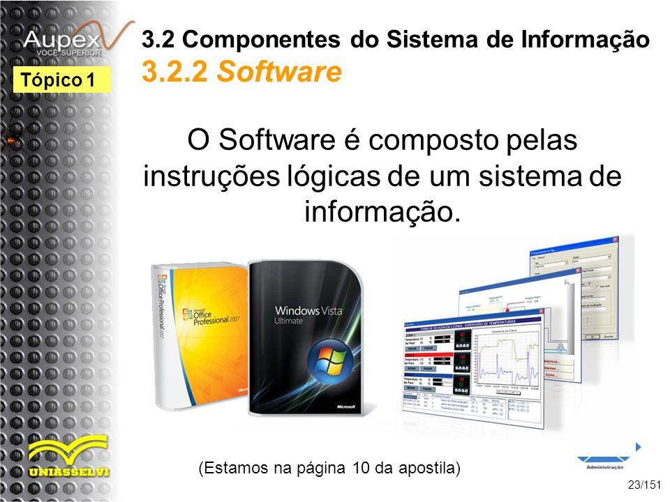 3.2 Componentes do Sistema de Informação 3.2.2 Software