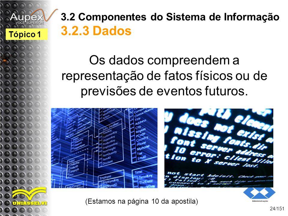 3.2 Componentes do Sistema de Informação 3.2.3 Dados