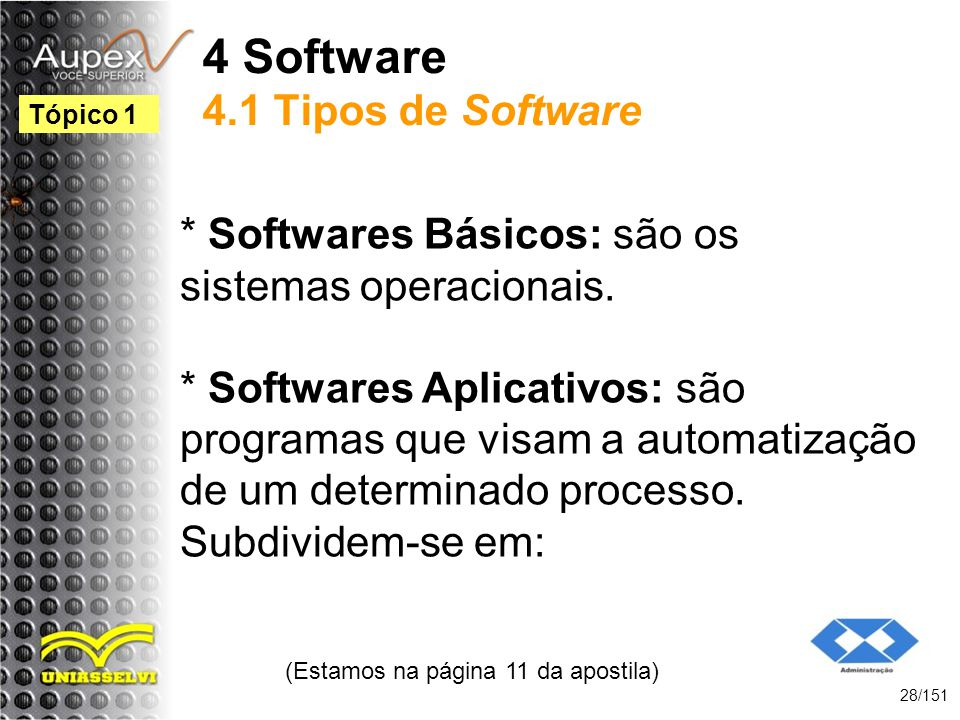 4 Software 4.1 Tipos de Software