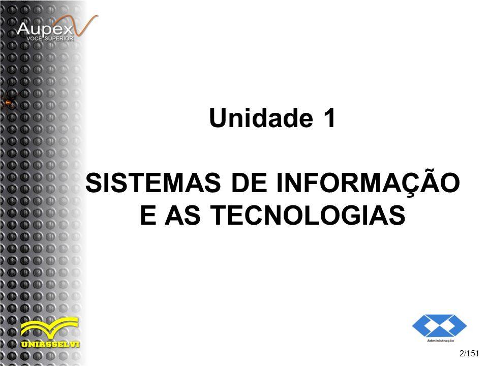 Unidade 1 SISTEMAS DE INFORMAÇÃO E AS TECNOLOGIAS