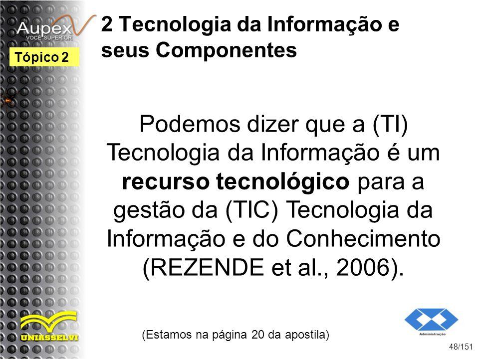 2 Tecnologia da Informação e seus Componentes