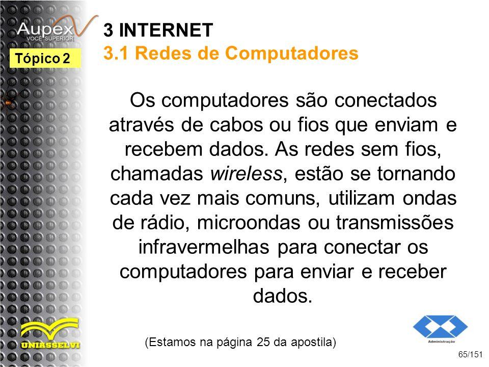 3 INTERNET 3.1 Redes de Computadores