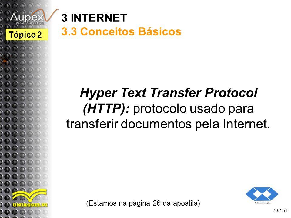 3 INTERNET 3.3 Conceitos Básicos