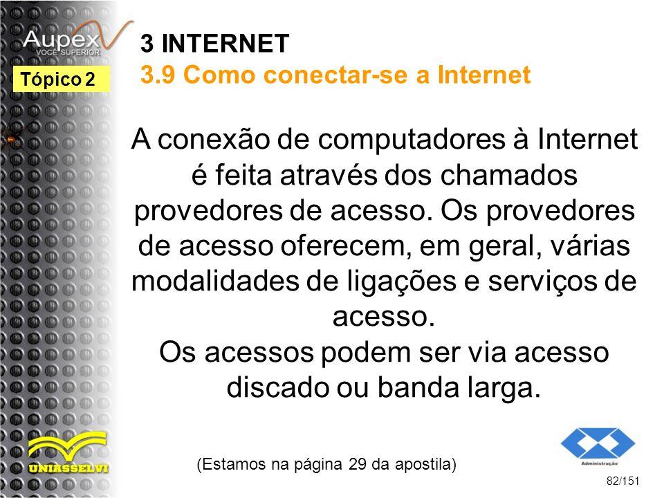 3 INTERNET 3.9 Como conectar-se a Internet