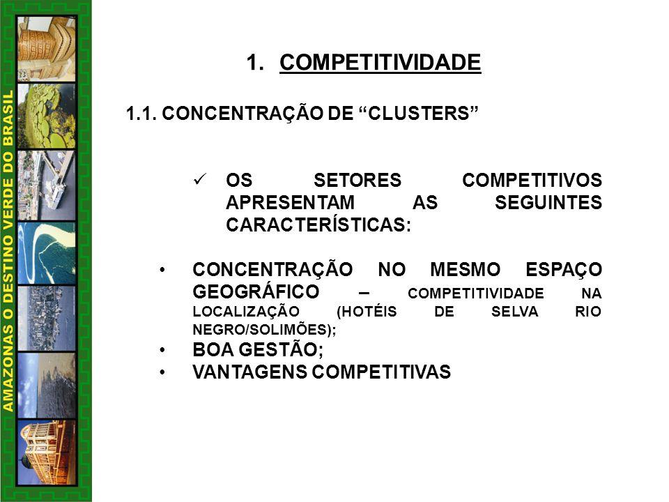 COMPETITIVIDADE 1.1. CONCENTRAÇÃO DE CLUSTERS