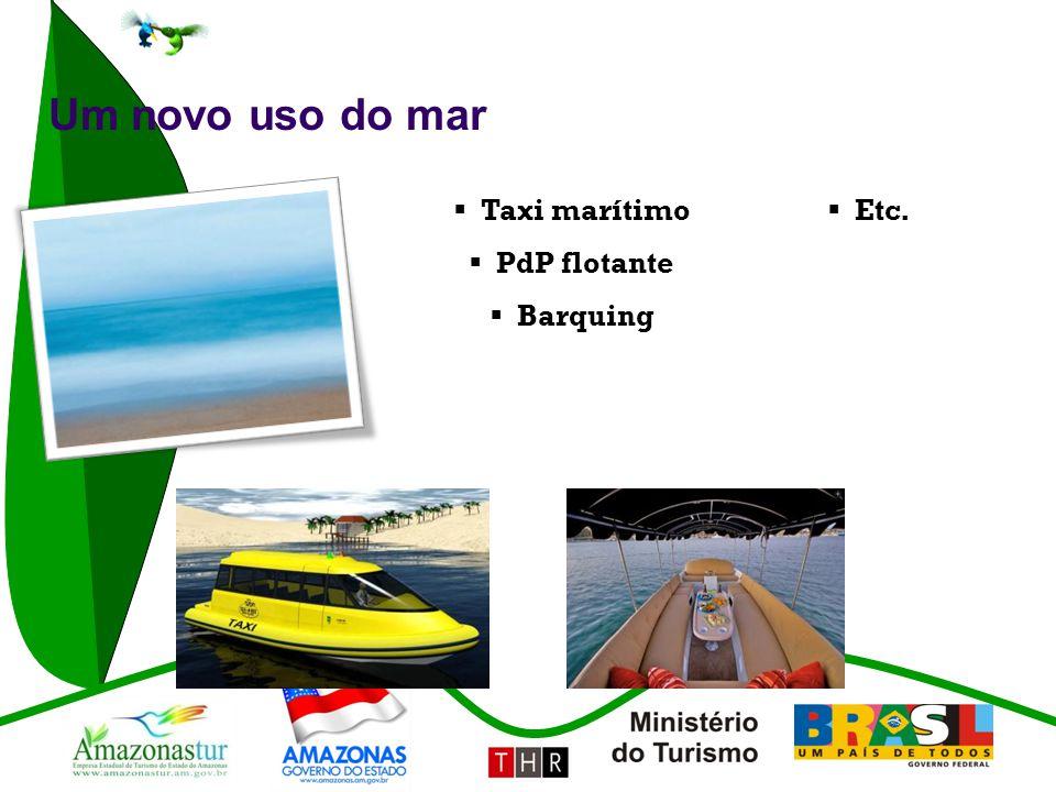 Um novo uso do mar Taxi marítimo Etc. PdP flotante Barquing