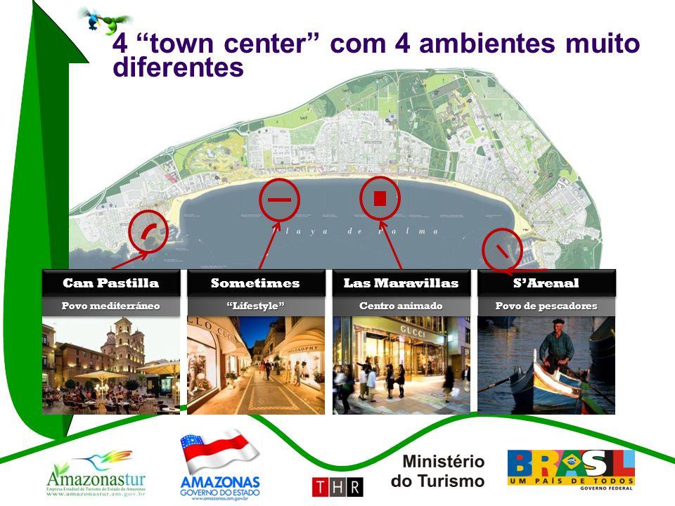4 town center com 4 ambientes muito diferentes