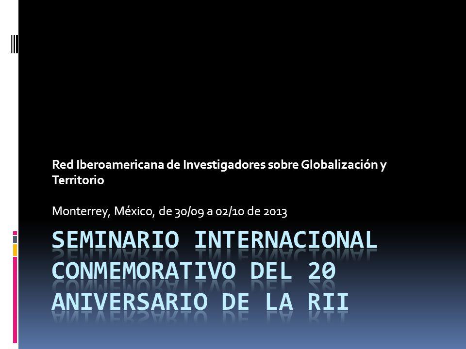Seminario Internacional Conmemorativo del 20 Aniversario de la RII