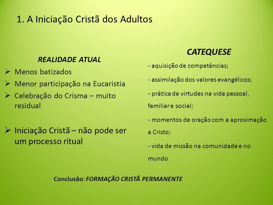 1. A Iniciação Cristã dos Adultos